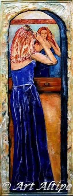 Blauwe dame